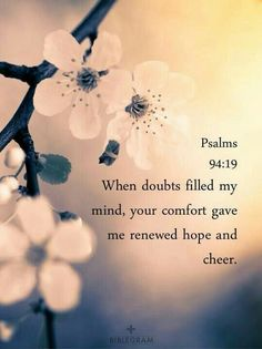 06/25/2020 - FACING MY FEARS - PSALM 94:19
