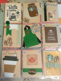 Keep calm and drink coffee pocket letter