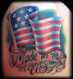 american flag tattoos - Google Search