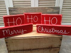 Distressed Ho Ho Ho Merry Christmas Photo Props by SassySouthernCharm, $25.00