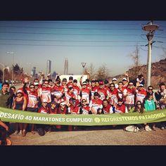 Foto con todos quienes acompañarón a #MatíasAnguita en su #desafío