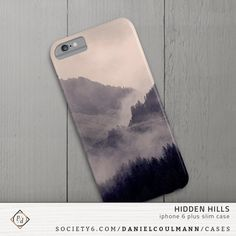 HIDDEN HILLS by Daniel Coulmann available on Society6 | iPhone 6 Plus slim case | mountains, fog, mist, firs, nature, landscape, photography, photograph, outdoor, travel, adventure, hiding, weather, foggy, trees, green, tinted, edited, mysterious, mistery, secret, wandering, wanderlust, wander, Austria, Alps,