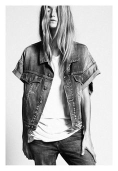 short sleeve jean jacket #style #fashion