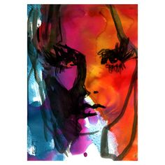 abstract Print watercolor Illustration mixedmedia by VincenzoRizzo, $15.00