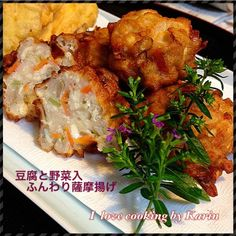 ハモのすり身のかき揚げ。。 豆腐と野菜がたっぷり入り ふんわりヘルシーな薩摩揚げです(*^^*) - 140件のもぐもぐ - 豆腐と野菜入ふんわり薩摩揚げ by keitee