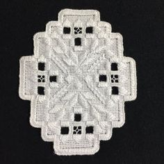 Brazilian Embroidery Patterns Ornament stitched in hardanger embroidery. Custom orders are available. Size is approximately 3 x - Ornament stitched in hardanger embroidery. Custom orders are available. Size is approximately x Brazilian Embroidery Stitches, Types Of Embroidery, Learn Embroidery, Embroidery Supplies, Embroidery Kits, Embroidery Designs, Embroidery Needles, Embroidery Online, Ribbon Embroidery