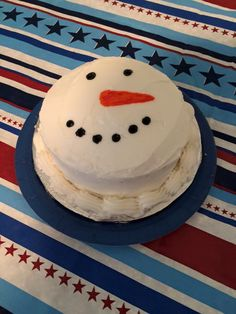 Winter ONEderland 1st birthday snowman smash cake