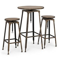 Belleze 3PC Adjustable Pub Table and Stools Vintage Antiq... https://www.amazon.com/dp/B01M0MN4L1/ref=cm_sw_r_pi_dp_x_Mv2aybNQ66MH6