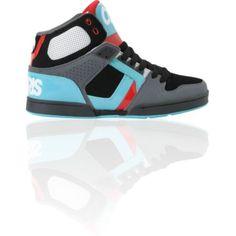 Osiris NYC 83 Black, Teal & Red Skate Shoe $60