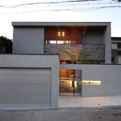 Home Dream Exterior Entrance 63 Trendy Ideas Garage Design, Exterior Design, Home Office Layouts, Box Houses, Garage House, Japanese House, Modern House Design, My Dream Home, Entrance