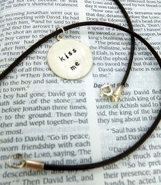 Hand stamped sterling silver necklace with by SnappinStudio, $30.00