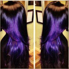Black with purple shine, I love this!