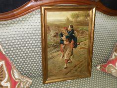19th Century Oil on Canvas, Comrads