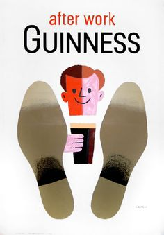 Patrick's Day, a pint of Guinness is customary. Check out these retro Guinness posters that got people into Guinness throughout the ages. 1950s Advertising, Vintage Advertising Posters, Vintage Advertisements, Vintage Posters, 1950s Posters, Beer Poster, Poster Ads, Sale Poster, Movie Posters