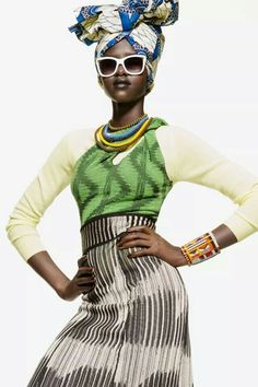 Mary Maguet shot by Giulio Rustichelli for Flair Magazine March 2014 fashion editorial African Inspired Fashion, African Men Fashion, Africa Fashion, Ankara Fashion, African Women, African Art, Style Ethnique, Kitenge, African Dress