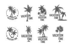 8 Tropical Palm logo illustration by AliceNoir on @creativemarket