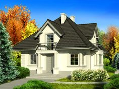 DOM.PL™ - Projekt domu Dom przy Sielskiej 3 CE - DOM EB2-94 - gotowy projekt domu Bungalow House Design, Modern House Design, Home Design Plans, Home Interior Design, My Ideal Home, Best House Plans, Facade House, Home Fashion, Modern Architecture