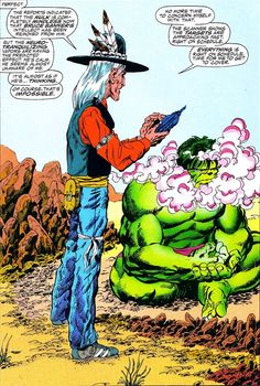 The Hulk is analyzed by a disguised Scourge.