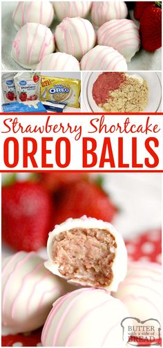 freeze dried strawberries Strawberry Shortcake Oreo Balls are made with just 4 ingredients with no baking required! Made in just a few minutes with freeze dried strawberries and Golden Oreo cookies! Oreo Cake Pops, No Bake Cake Pops, Mocha Cupcakes, Oreo Bars, Oreo Truffles, Oreo Cookies, Oreo Treats, Candy Melts, Köstliche Desserts