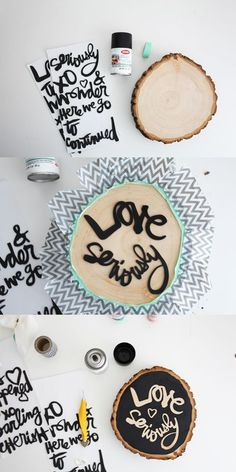 Love Seriously by ShannaNoel at @studio_calico #diy