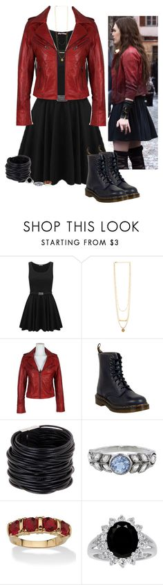 """""""Wanda Maximoff - Scarlet Witch - Marvel - Avengers"""" by little-miss-otp ❤ liked on Polyvore featuring Dr. Martens, Saachi, Cathy Waterman and Palm Beach Jewelry"""