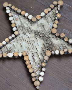 basteln mit rinde stern deko birke zweige stuecke weihnachten
