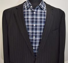 Michael kors mens 2 button blue striped sport coat blazer jacket