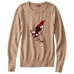 Target : Merona® Women's Crewneck Pullover Sweater - Bird Print