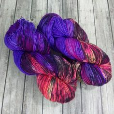 Merino 8 ply Squishy Sock Yarn Hand Dyed Merino by LogHouseCottage