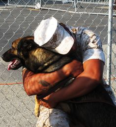 Marine and the dog that keeps him safe 2011