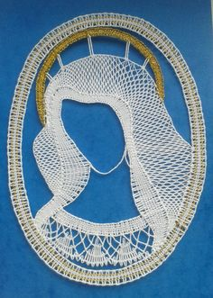 Lace Necklace, Lace Jewelry, Madonna, Diy And Crafts, Embroidery, Pattern, Angeles, Ideas, Bobbin Lace