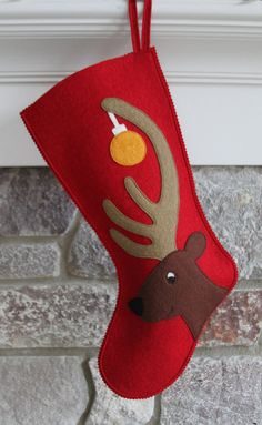 Pretty purveyors of perfect presents make mantles merry! Family Christmas Stockings, Christmas Towels, Xmas Stockings, Christmas Sewing, Christmas Projects, Christmas Crafts, Christmas Decorations, Christmas Christmas, Felt Stocking