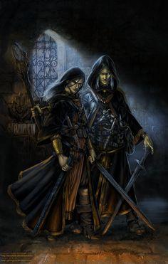 Raistlin and Dalamar  Don't get the swords though
