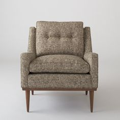 Jack Chair - Nubby Tweed Schoolhouse Electric & Supply Co. Inspired Homes, Upholstered Chairs, Home Furniture, Furniture Ideas, Modern Furniture, Interior Design Living Room, Room Inspiration, Home Goods, Living Spaces