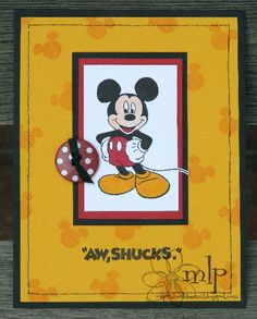 Inspiration Blooms: Mickey Mouse Cards!