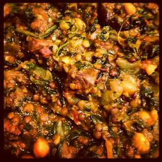 Day #99 - my first attempt at a beef dhansak, packed with protein-rich lentils, chickpeas and spinach