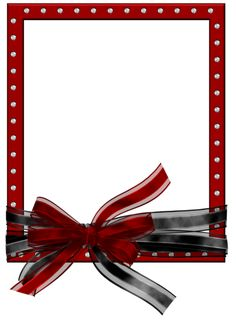red frame png | Red_PNG_Photo_Frame_with_Black_and_Red_Bow.png?m=1372212955