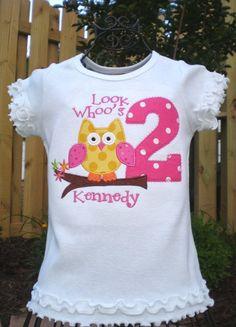 owl birthday shirt