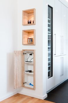 Drawer cabinets in drywall: kitchen by klocke möbelwe .- Find modern kitchen designs: Slide-in cabinets in drywall. Discover the most beautiful pictures for inspiration for the design of your dream home. Bathroom Layout, Modern Bathroom, Small Bathroom, Minimal Bathroom, Kitchen On A Budget, Home Decor Kitchen, Kitchen Ideas, Küchen Design, Home Design