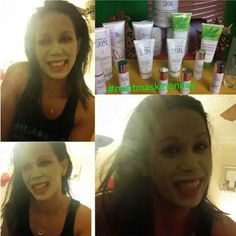 Herbalife's amazing mint mask feels so good, love how my skin feels after,  you just have to try it....Checkout the whole skin care line at www.goherbalife.com/blancah or msg me for more info at blancah21@yahoo.com