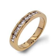 Arthurs Collection Diamond Channel Set Yellow Gold Womens Wedding bands DR1748BY-35 #ArthursJewelers