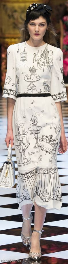 #Farbbberatung #Stilberatung #Farbenreich mit www.farben-reich.com Dolce & Gabbana Fall 2016 RTW l Ria