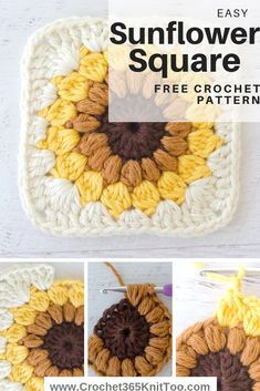 Easy crochet sunburst granny square.  Make out of scraps or make several for a beautiful  crochet afghan!  #crochet365knittoo #crochetsunburstgrannysquare  #grannysquare #crochetgranny #crochetafgahn #sunburstgranny #crochetpattern
