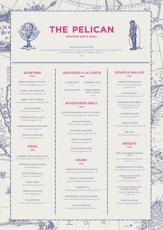 restaurant menu design typography