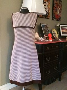 70s Striped Dress Vintage Size 14 please check measurements by BarbeeVintage on Etsy