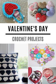 So many fabulous crochet Valentine ideas and projects! So many fabulous crochet Valentine ideas and projects! Holiday Crochet, Crochet Gifts, Free Crochet, Crochet Solo, Knitting Patterns, Crochet Patterns, Knitting Ideas, Crochet Ideas, Free Knitting