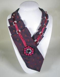 53. Krawatte für Frauen Seide Burgunder von AleksandraSemeniuk