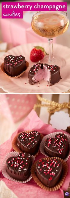 Forget the boxed chocolates, these homemade Strawberry Champagne Filled Candies are the perfect way to show someone how much you care. These cute candies would also be great to give as wedding favors or treats for a bridal shower.