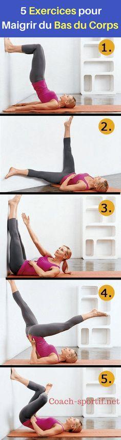 Comment maigrir du bas du corps ? cuisses, hanches , ventre et jambes ? voici 5 exercices les plus efficaces pour les femmes et aussi pour les hommes #femme #exercice #fitness #hanches #cuisses