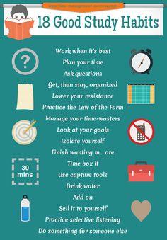 Developing Good Study Habits - 18 Keys To Successful Study